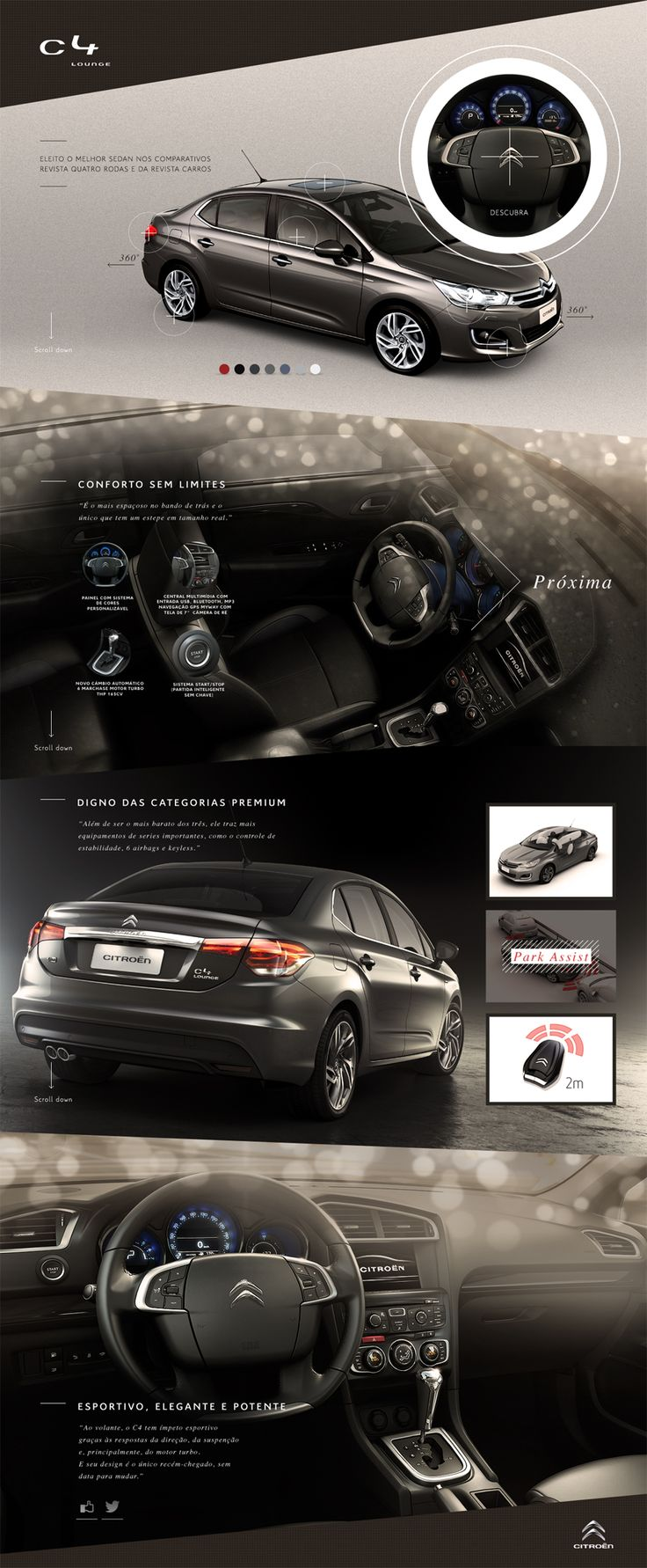 Cool Automotive Web Design. Citreon. #automotive #webdesign [http://www.pinterest.com/alfredchong/]