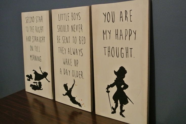 Peter Pan - Hand Painted Wood Sign Set   Captain Hook   Boy's Decor   Disney Sign by StoriesAndSayings on Etsy https://www.etsy.com/listing/550829293/peter-pan-hand-painted-wood-sign-set