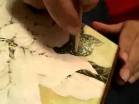 Декупаж. Пуантилизм или Флорентийская мозаика - YouTube