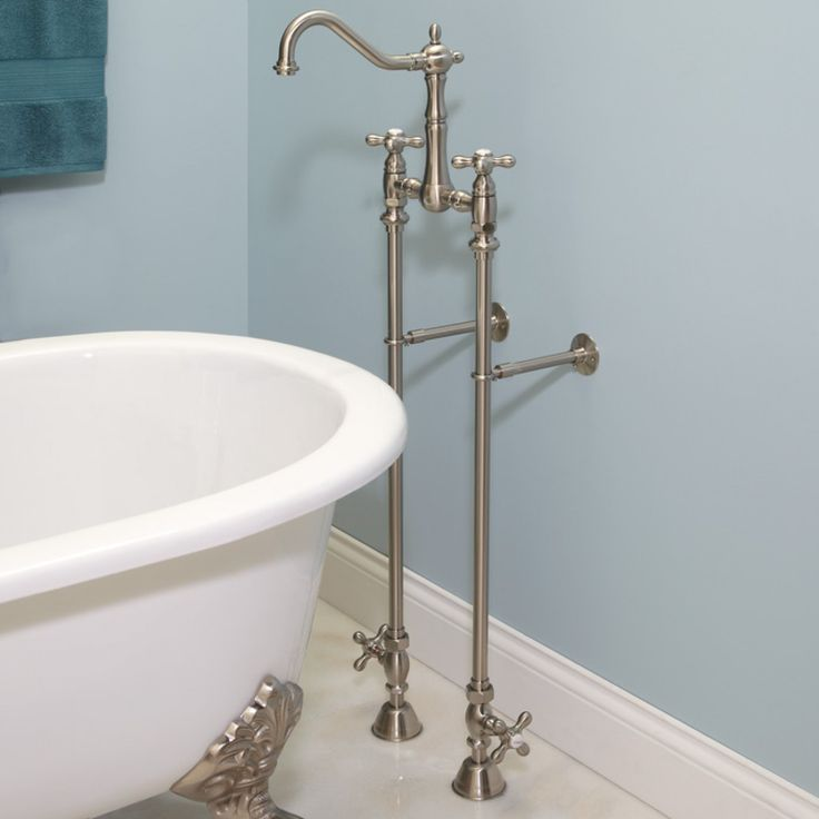 Create Photo Gallery For Website Classic Victorian Gooseneck Tub Faucet u Supplies with Shutoff Valves Cross Handles Tub Faucets