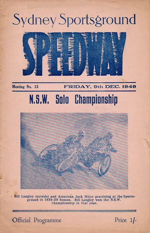Sydney Showground Speedway or the Sydney Royal as it was often reffered to was opened in 1926 under the direction of Empire Speedways.
