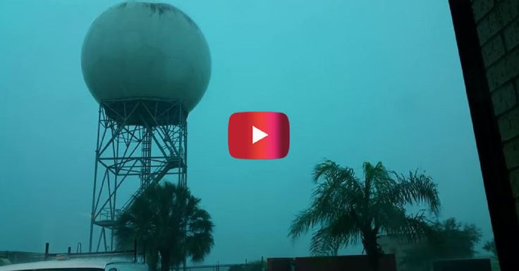 A lightning strike hit a weather radar and caused this bizarre scene in Texas