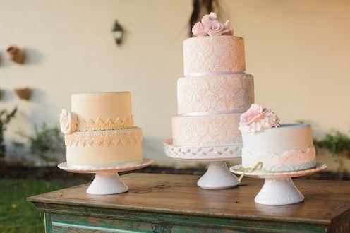 Oficina de noivas - idéias de bolos de casamento românticos