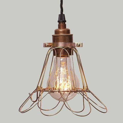 Lampa Cage Brass Flower