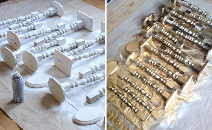 DIY Wedding Decor: Gold Candlestick Centerpieces | brittanyMakes