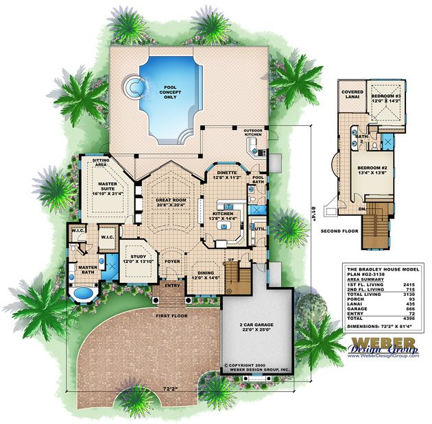 Mediterranean Home Plan | Bradley Home Plan - Weber Design
