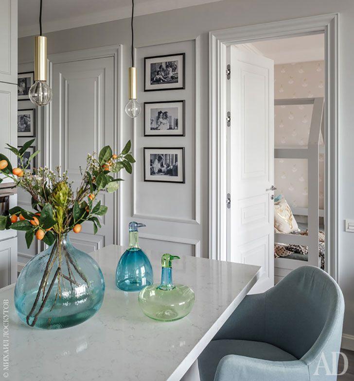 Яркие акценты в элегантном интерьере квартиры в Москве (73 кв. м) | Пуфик - блог о дизайне интерьера