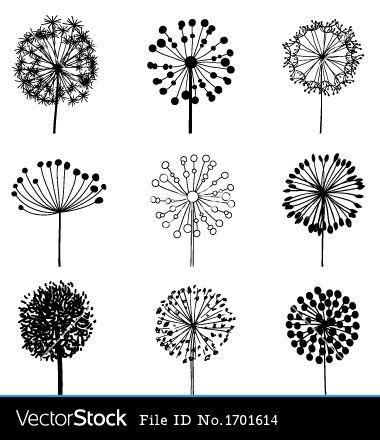 http://www.vectorstock.com/composite/1701614/set-of-dandelions-vector.jpg