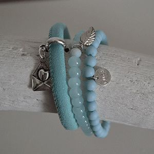 Armbandensetje blauw