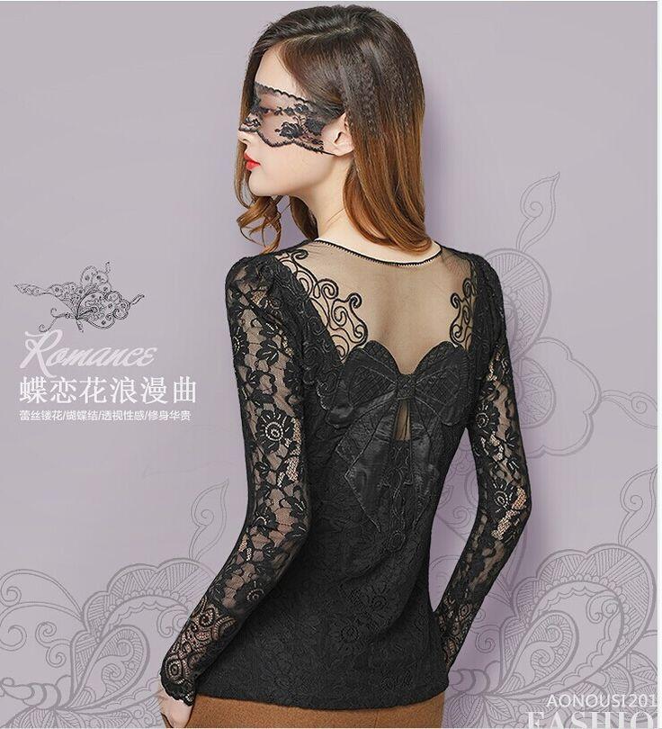 winter blouse lace tops shirt women blouses blusas de renda feminino sexy long sleeve vetement femme blusas y camisas mujer
