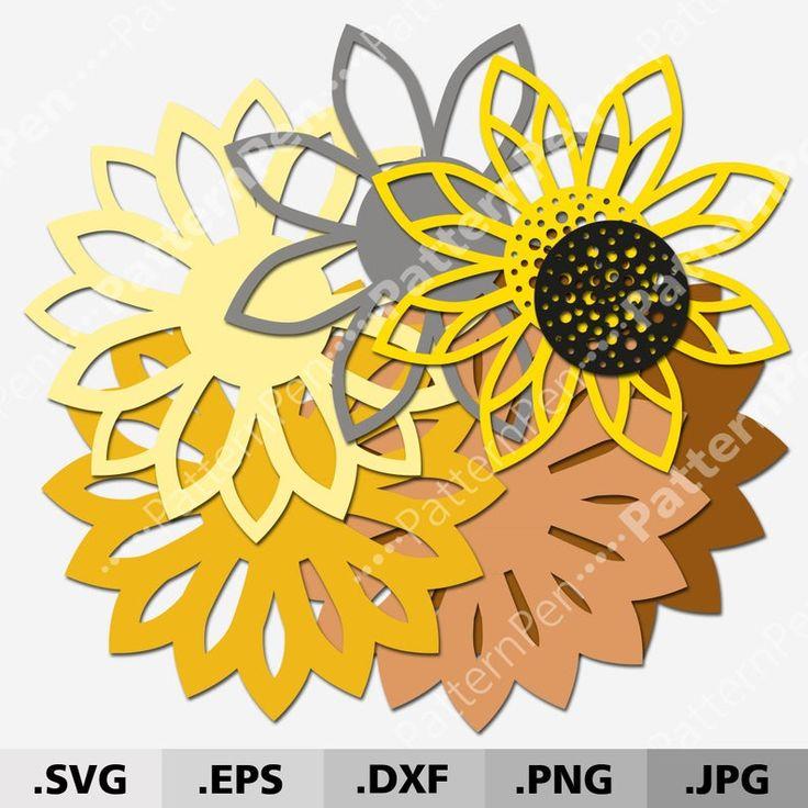 3d mandala sunflower svg files for cricut silhouette