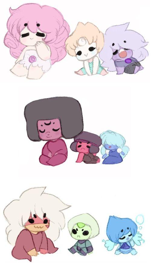 Kawaii Crystal Gems de Steven universe