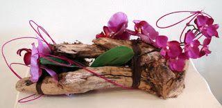 FIORI A MODO MIO: ORCHIDEE FINTE, COMPOSIZIONE CON TRONCHI
