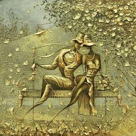 Картина Свидание. Интерьерная живопись. Ковалев Сергей.