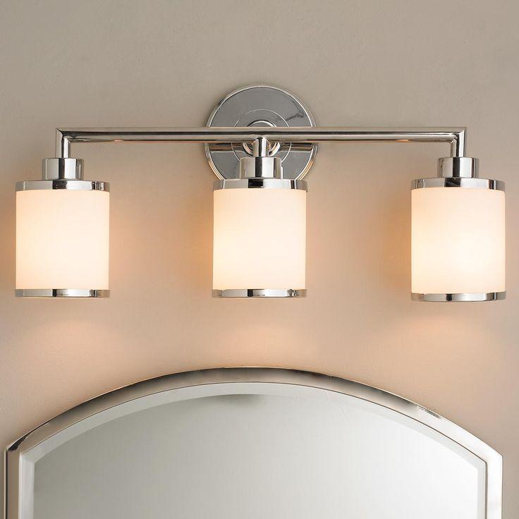 "Contemporary Urban Bath Vanity Light - 3 Light 3x100 watt medium base lamp required. (10.5""Hx23""Wx6""E) Backplate (5.5""W) $150"
