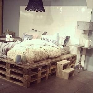 pallet bed frame diy by tulip buds