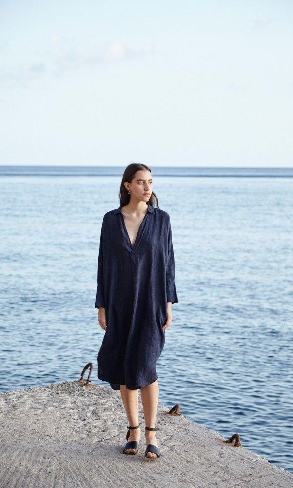 Artist linen dress - Plümo Ltd