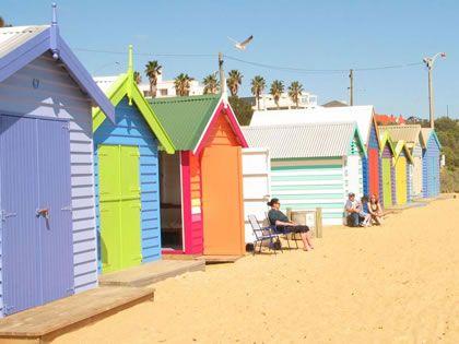 Brighton Bathing Box in Brighton Beach