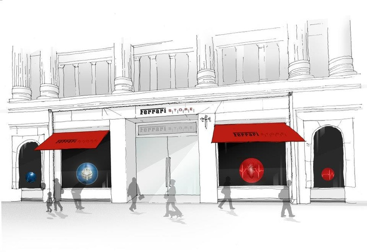 The fabulous @Ferrari Store beating heart design concept by Gensler.