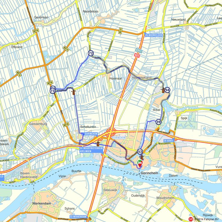 Fietsroute: Molens rondom Gorinchem  (http://www.route.nl/fietsroutes/139546/Molens-rondom-Gorinchem/)