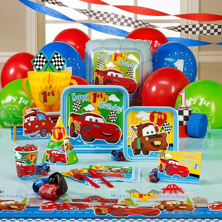 Cars 1st Birthday Theme I Really Like This Theme