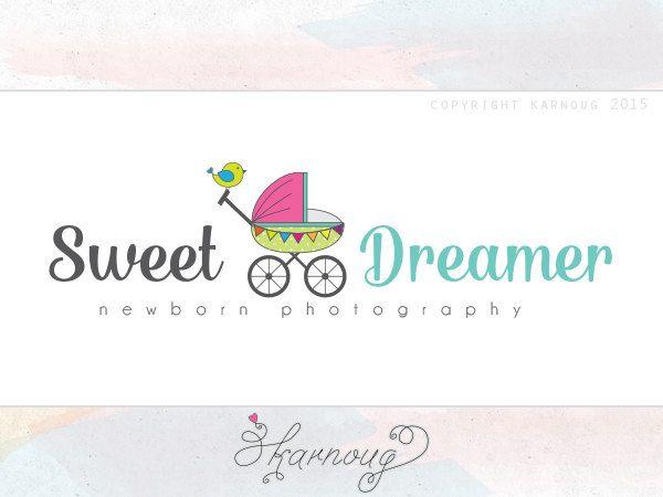 Maternity Logo, Maternity Coach Logo, Stroller Logo, Newborn Logo, Photography Logo, Custom Logo, Custom Watermark, Premade Logo by karnoug on Etsy