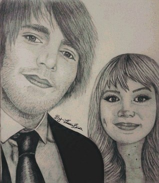 My newest drawing of Shane Dawson and his girlfriend Lisa Schwartz(:
