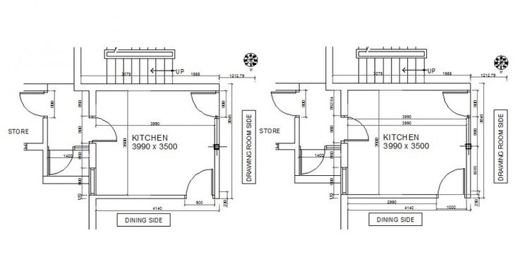 2d drawings details of kitchen area bocks layout autocad