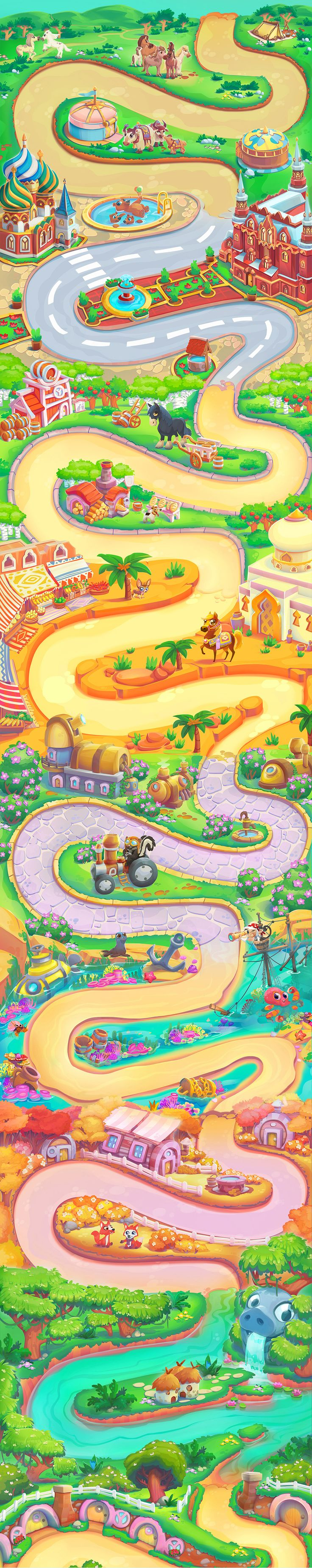 Work i did at King for Farm Hero Saga. This game has aaamazing maps! go and play it;)