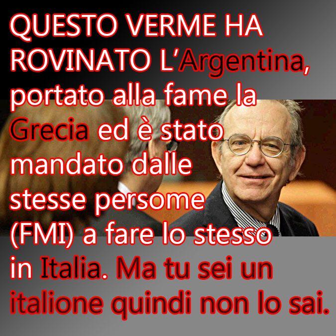 """+++IL COLLABORAZIONISTA DEI SIONISTI Ministro dell'Economia Pier Carlo Padoan: """"Bene controllo UE sulle riforme dell'Italia"""" (cit.) http://247.libero.it/…/il-collaborazionista-padoan-dice-be…/  LA STORIA DEL GENOCIDA AMMAZZA-POPOLI: http://sulatestagiannilannes.blogspot.it/…/il-ministro-pado…  Seguici su --> Killuminati Soldiers  *n (errata corrige)"""