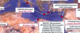 Navy releases map showing location of fleet positions during Benghazi attacks