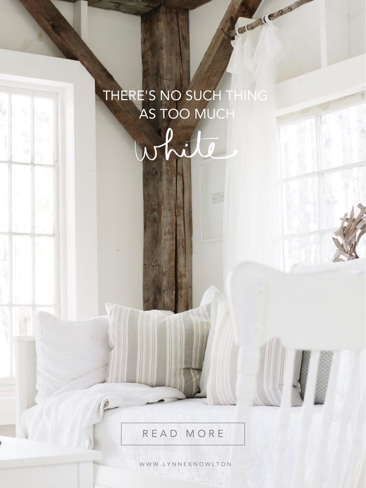 Truly, there is no such thing when it comes to your home interior! I just love me some white home decor! #whiteinteriors #crispinteriors #cabin