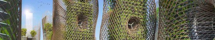 Le projet des jardins suspendus des tours Massena de l'architecte belge Vincent Callebaut dans le XIIIe arrondissement de Paris.