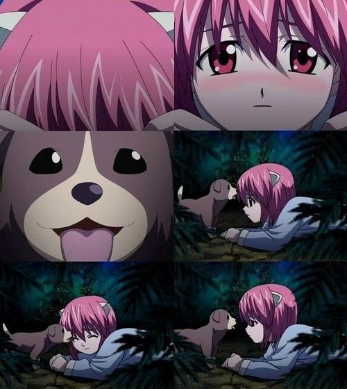 T^T poor puppy... If you've watched Elfen Lied you'd know what I'm on about... #anime #ElfenLied