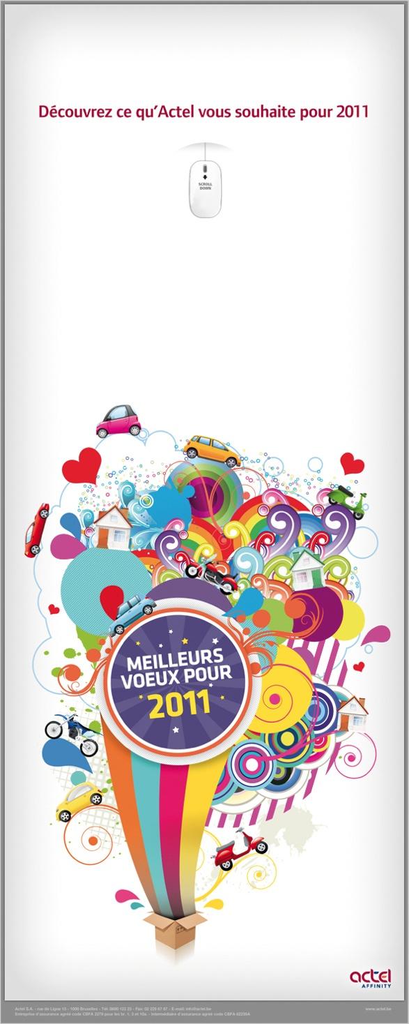 Actel Best Wishes 2011 #graphicdesign #webdesign #design #website #layout #newsletter