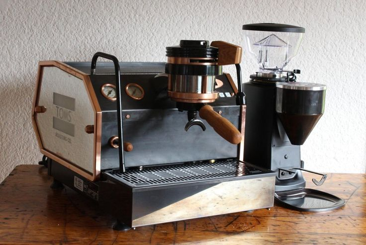 """Jacob Ellul-Blake on Twitter: """"Custom La Marzocco #GS3 and Mini, copper and oak detailing, antiqued mirror sides. Thanks @TOMS and @lamarzocco ! http://t.co/VuJCGyTPST"""""""