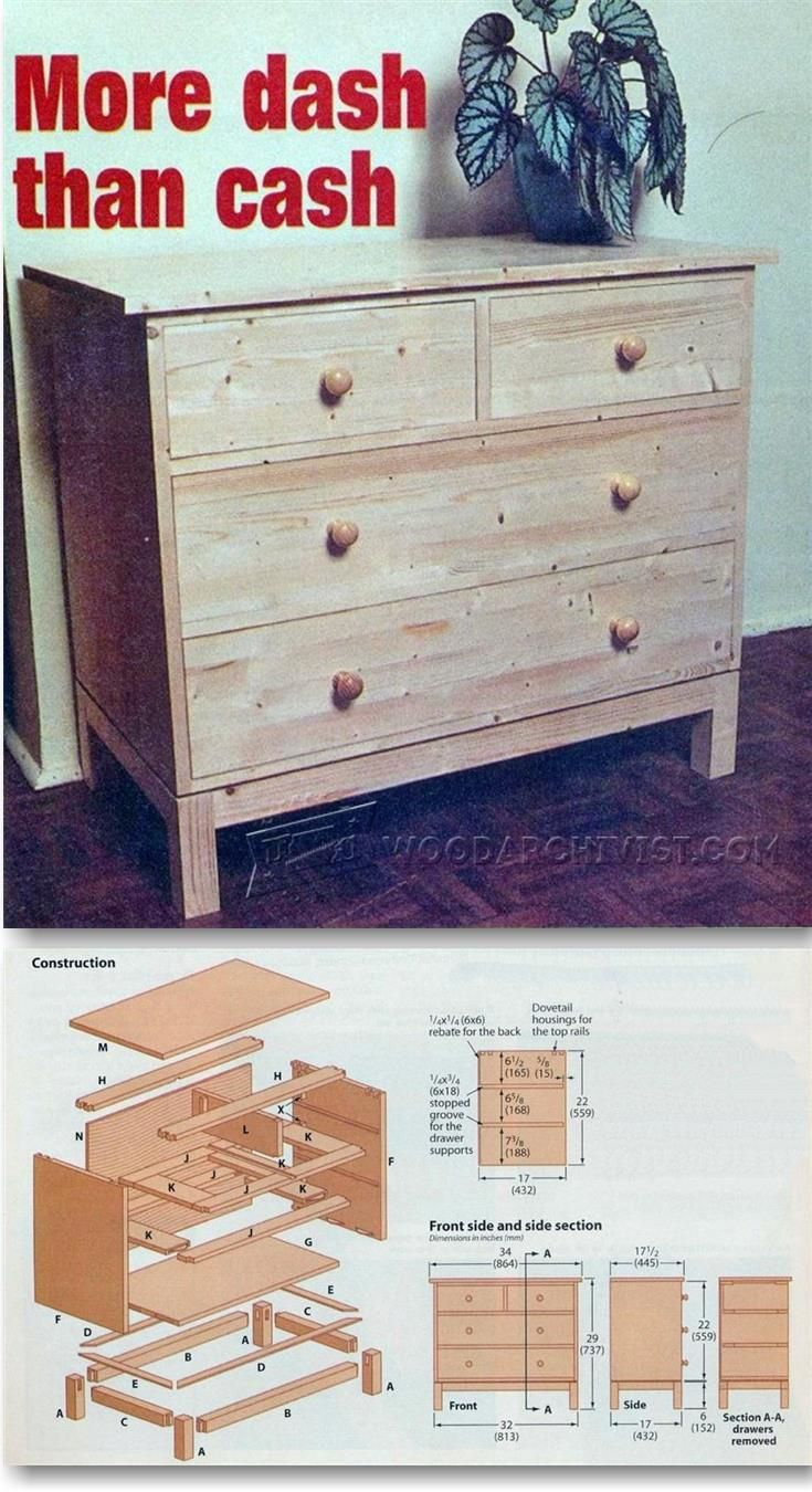Make Chest of Drawers - Furniture Plans and Projects | WoodArchivist.com