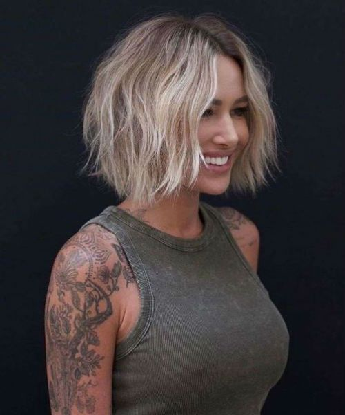 Most Wanted Chin Length Shaggy Bob Haircuts and Hairstyles 2020 for Girls to Look Glamorous