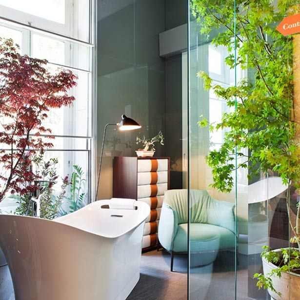 Gran iluminación y vegetación cobran protagonismo en el cuarto de baño. #details #bathroom #homedecor #deco #decoracion #design #diseño #light #relaxing