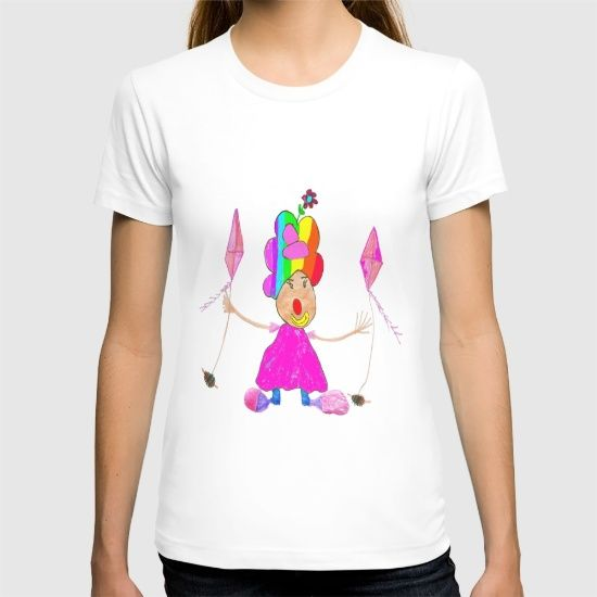 Buy RAINBOW CLOWN T-shirt by Azima. #tshirts #azima #laptop #shop #artists #society #festival #print #artprints #BestBuy @society6 #society6promo #society6 #society6artists #society6art #shareyoursociety6 #storedesign #displate #artprint #societydesign #printmaking #wallart