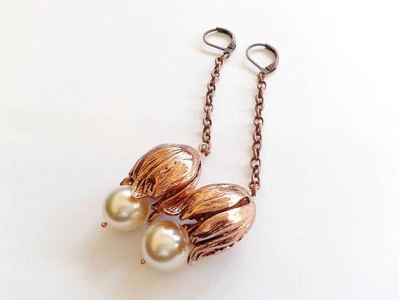 white swarovski pearl earrings earrings with chain ethnic