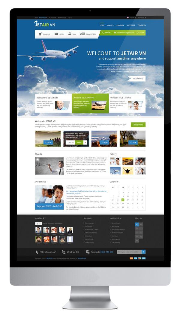 Vietnam Airlines - Website    Designed by Weeds Brand by Weeds Brand, via Behance