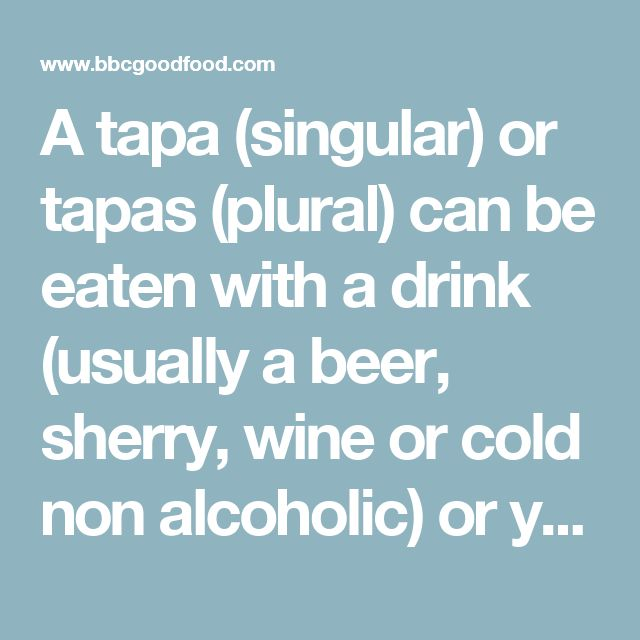 A tapa (singular) or tapas (plural) can be eaten with a drink (usually a beer, sherry, wine or cold non alcoholic) or you can order many different types to make a meal. If it's a dish you like you can order a half portion (medio) or a full serving (racion). Manchego cheese is not traditionally served with honey or quince but drizzled with olive oil or accompanied with almonds, ham or air dried tuna (mojama). Burgos cheese however (a soft, white, fresh cheese - similar to pressed cottage…