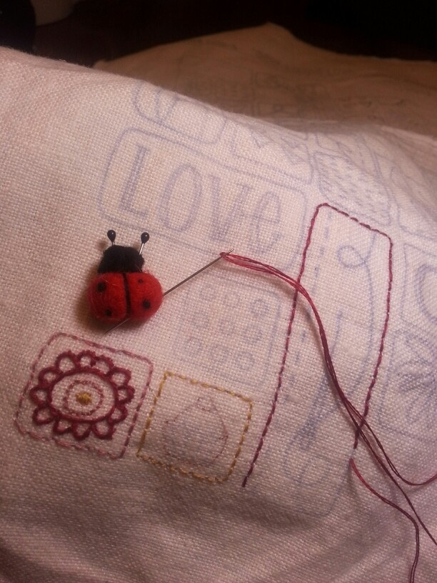 """Have your """"pin pal"""" close to you when stitching. Great for holding onto your needles!"""