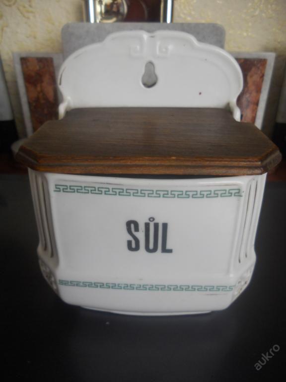 Starožitná porcelánová závěsná slánka - značaná
