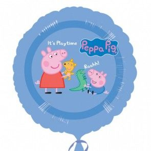 Peppa Pig Non Message Balloon 45cm  http://www.gopartysupplies.com.au/themes/themes-for-all/peppa-pig?___SID=U