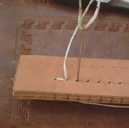 How to properly stitch together leather by hand