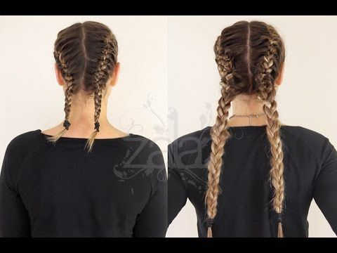 How to: Double Dutch Braids Using Hair Extensions | ZALA HAIR - YouTube