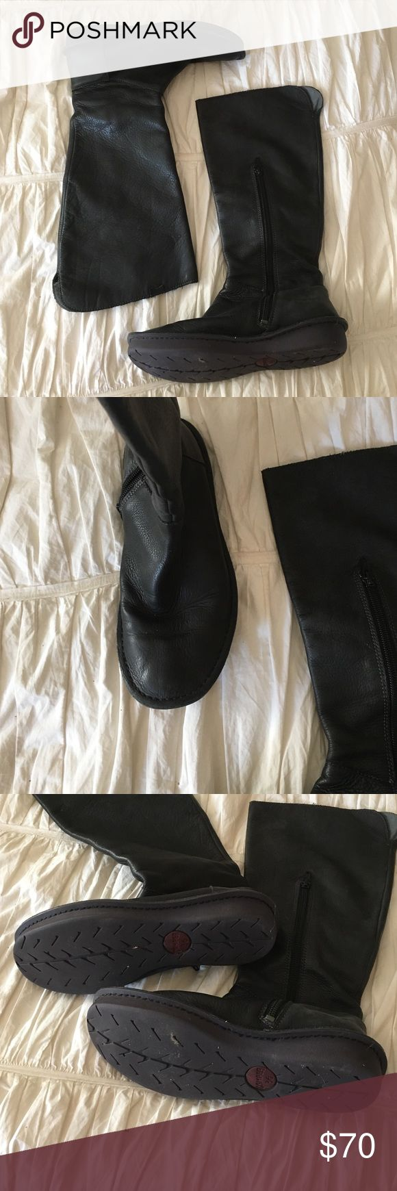 Camper boots Black soft leather riding style boots.  Comfy!  Used 9/10 condition Camper Shoes Winter & Rain Boots