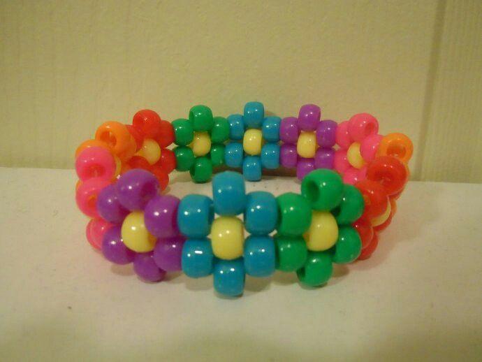 flower pony bead cuff � accessories � pinterest pony